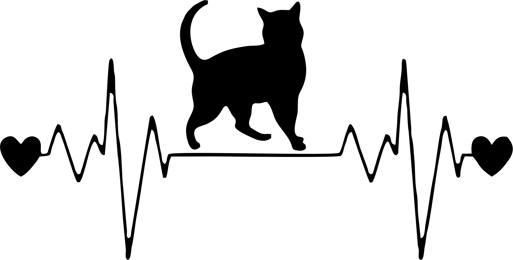 Katė einanti lipdukas