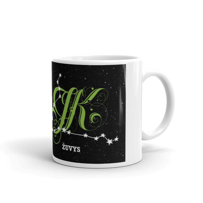 Žuvų žvaigždynas ant puodelio
