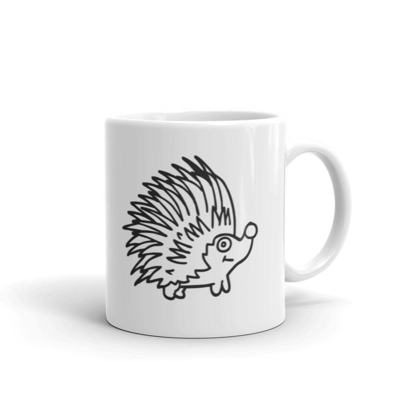 Ežiukas ant puodelio
