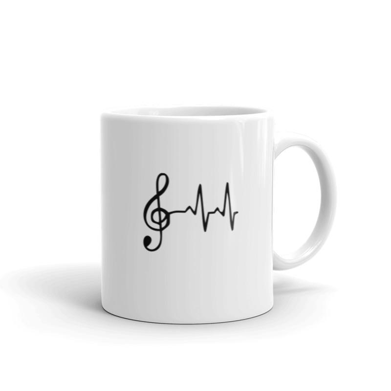 Smuiko raktas ant puodelio